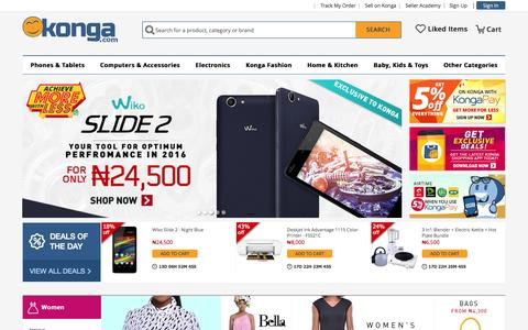 Screenshot of Home Page konga.com - Online Shopping | Phones, Fashion, Electronics - captured Jan. 13, 2016