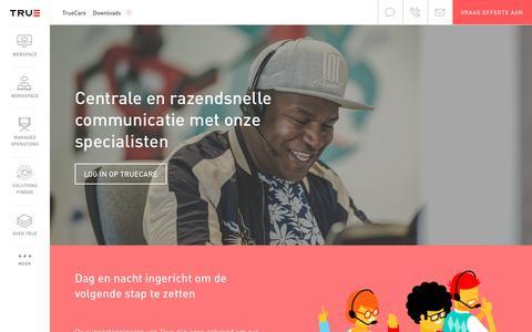 Screenshot of Support Page true.nl - Hosting support bij managed hostingprovider True - captured July 10, 2017