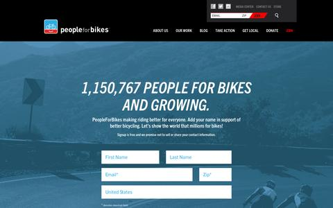 Screenshot of Signup Page peopleforbikes.org - PeopleForBikes  |  Join PeopleForBikes - captured Dec. 1, 2015