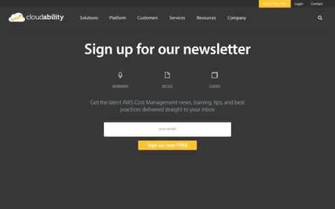 Sign up for the Cloudability newsletter