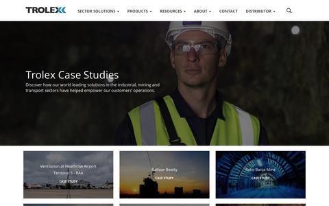 Screenshot of Case Studies Page trolex.com - Trolex Case Studies - captured Nov. 13, 2017