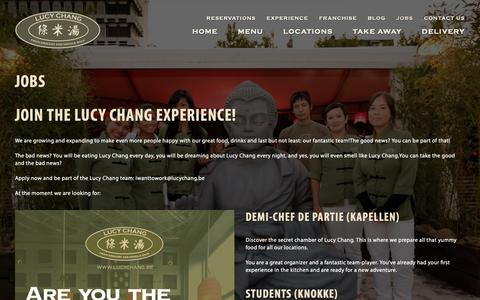 Screenshot of Jobs Page lucychang.be - Jobs - Lucy ChangLucy Chang - captured Sept. 29, 2018