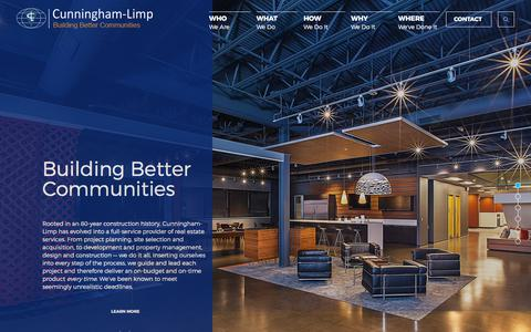 Screenshot of Home Page cunninghamlimp.com - Cunningham-Limp | A Michigan Real Estate Solution Firm - captured Sept. 18, 2017