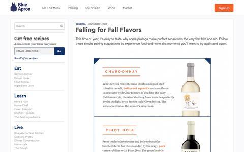Screenshot of blueapron.com - Falling for Fall Flavors | Blue Apron Blog - captured Nov. 2, 2017
