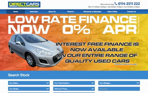 Screenshot of Home Page directcars.co.uk - Car Supermarket with nearly new & used cars for sale - Direct Cars - captured Sept. 25, 2014
