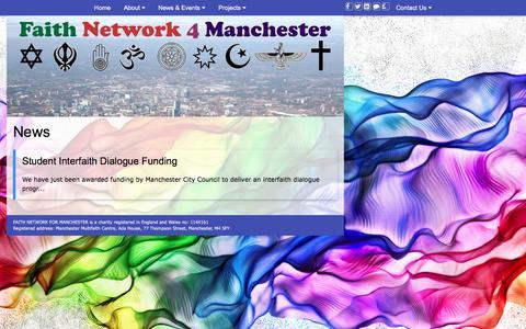 Screenshot of Press Page fn4m.org - FN4M - News - captured Nov. 24, 2016
