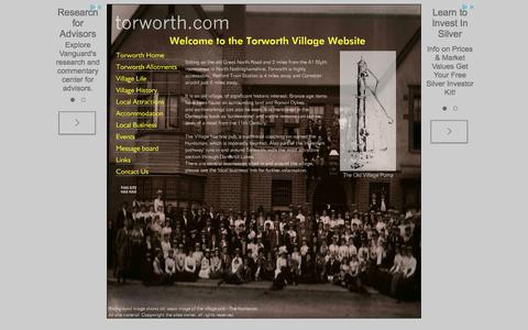 Screenshot of Home Page torworth.com - Torworth Home - Torworth Village Website - captured May 28, 2016