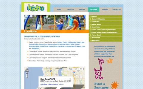 Screenshot of Locations Page kidscompany.org - Locations | Kids Company - captured Oct. 6, 2014