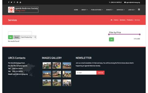 Screenshot of Products Page redcrossug.org - Products - captured Nov. 18, 2016