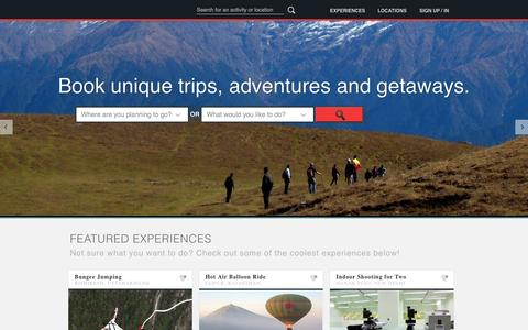 Screenshot of About Page iexperience.in - iexperience.in | Book Activities, Weekend Getaways and more - captured Sept. 19, 2014