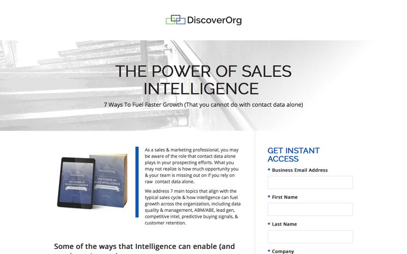 The Power of Sales Intelligence: 7 Ways to Fuel Faster Growth| DiscoverOrg