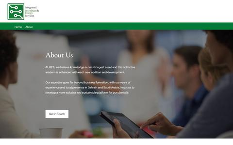 Screenshot of About Page i-pes.com - About | Integrated Petroleum and Energy Services - captured Oct. 12, 2018