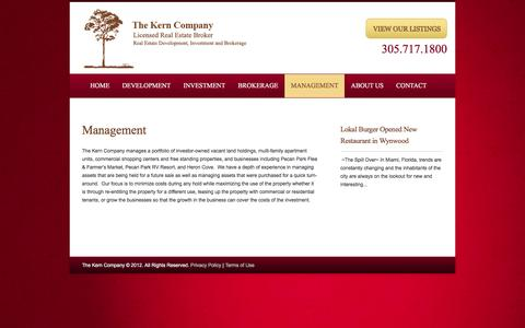 Screenshot of Team Page thekerncompany.com - The Kern Company | Real Estate Management Services. Miami, Jacksonville Florida | The Kern Company - captured Dec. 16, 2016