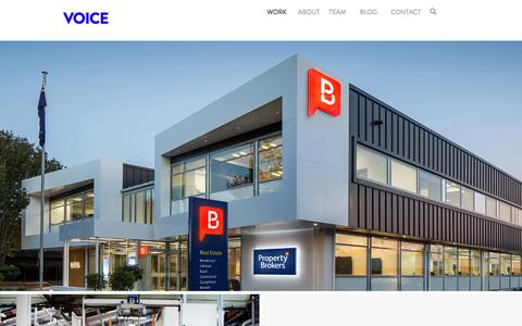 Screenshot of Home Page voicebrandagency.com - Voice | Specialist Brand Agency - captured Sept. 21, 2018