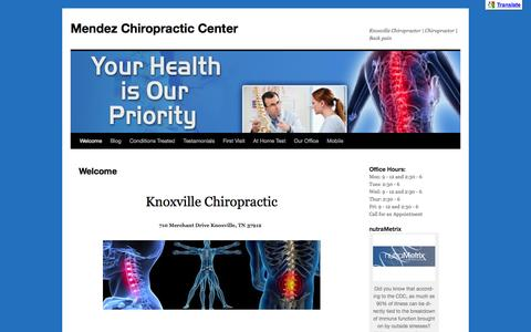 Mendez Chiropractic CenterMendez Chiropractic Center | Knoxville Chiropractor | Chiropractor | Back pain
