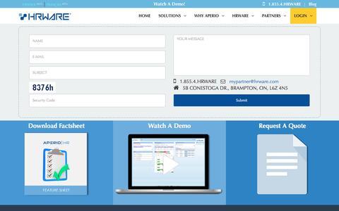 Screenshot of Contact Page hrware.com - Contact Us | HRWARE - captured Dec. 27, 2016