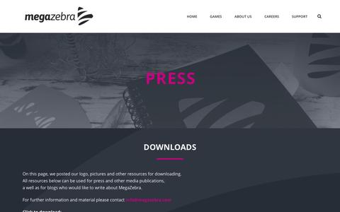 Screenshot of Press Page megazebra.com - Press – MegaZebra - captured July 3, 2016