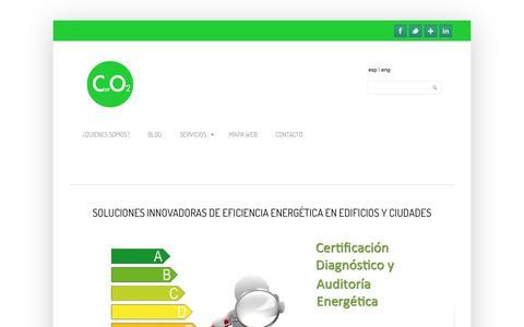 Screenshot of Home Page ceroceo2.com - Ceroceo2 - Soluciones innovadoras de eficiencia energética Ceroceo2 - captured Sept. 26, 2014