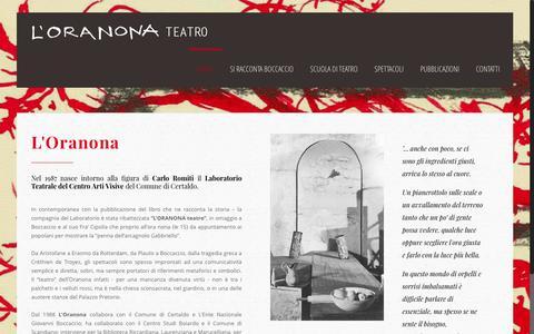 Screenshot of Home Page oranona.it - L'ORANONA Teatro – L'ORANONA Teatro Certaldo - captured March 18, 2017