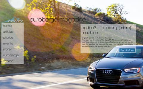 Screenshot of Home Page euroberge.com - EuroBerge Magazine - EuroBerge Magazine - captured Oct. 3, 2014