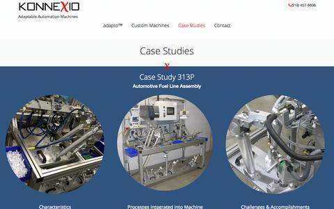 Screenshot of Case Studies Page konnexio.com - Konnexio - captured Nov. 3, 2014