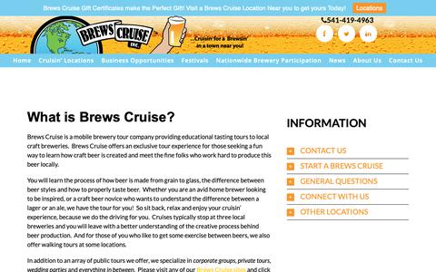 Screenshot of About Page brewscruise.com - About Us | Brews Cruise - captured Oct. 6, 2018