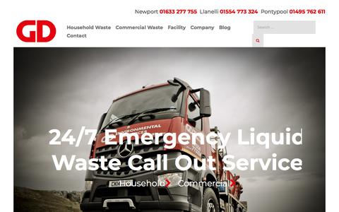 Screenshot of Home Page gd-environmental.co.uk - Waste Management Service in South Wales - GD Environmental - captured Sept. 25, 2018