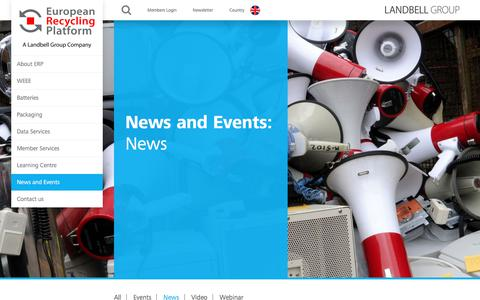 Screenshot of Press Page erp-recycling.org - News Archives • ERP UK - captured Sept. 26, 2018
