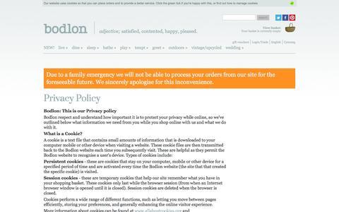 Screenshot of Privacy Page bodlon.com - Bodlon Privacy Policy | Bodlon - captured July 29, 2016
