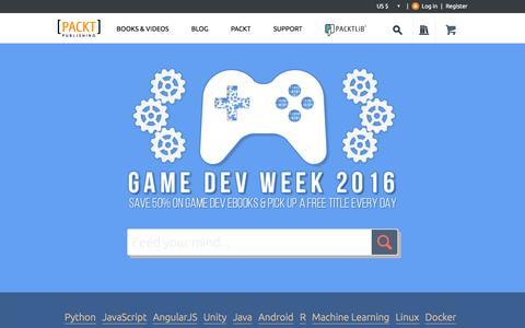 Screenshot of Home Page packtpub.com - Packt Publishing | Technology Books, eBooks & Videos - captured Feb. 23, 2016