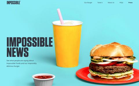 Screenshot of Press Page impossiblefoods.com - Impossible Foods - captured Nov. 18, 2016