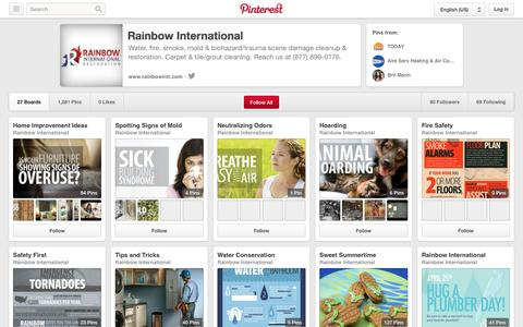 Screenshot of Pinterest Page pinterest.com - Rainbow International on Pinterest - captured Oct. 27, 2014