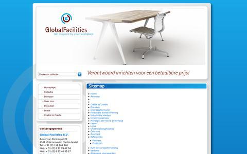 Screenshot of Site Map Page global-facilities.nl - Sitemap | Global Facilities - captured Oct. 2, 2014
