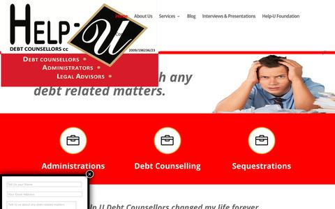 Screenshot of Home Page helpudebtcounsellors.co.za - Help-U Debt Counsellors | Help U Debt Counsellors - captured July 13, 2016