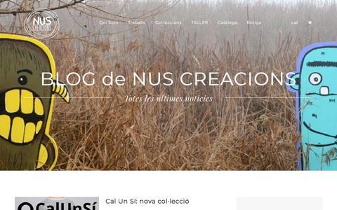 Screenshot of Blog nuscreacions.cat - Blog | Nus Creacions - captured Sept. 21, 2018