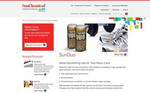 Ink | SunDuo | Sun Chemical