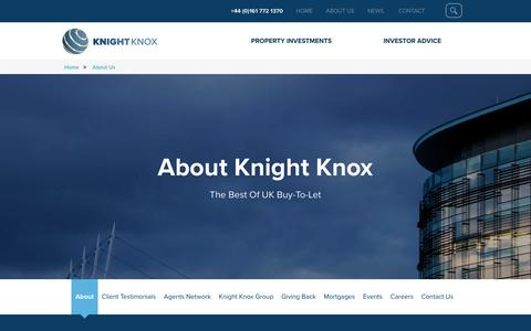 Screenshot of About Page knightknox.com - About Us - Knight Knox - captured Nov. 27, 2016