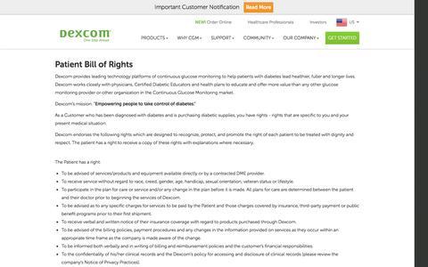 Patient Bill of Rights | Dexcom