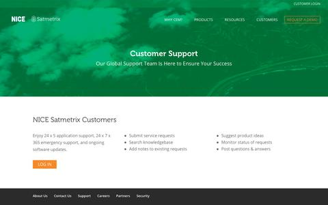 Screenshot of Support Page satmetrix.com - Customer Support - Satmetrix - captured Nov. 3, 2018