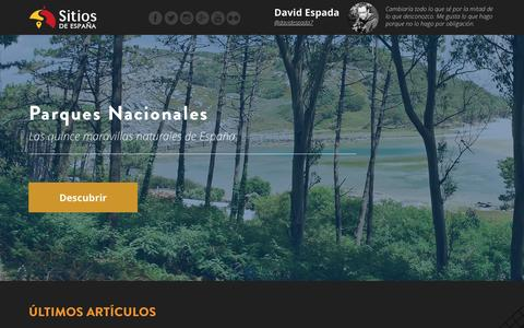 Screenshot of Home Page sitiosdeespana.es - Sitios de España - captured Feb. 14, 2016