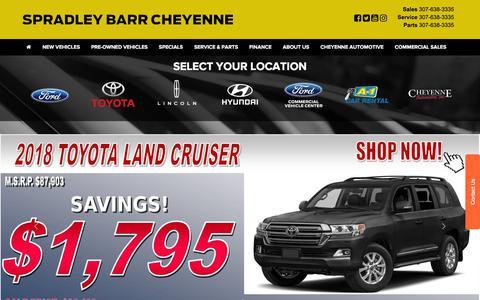 Screenshot of Home Page spradleybarrcheyenne.com - Cheyenne Ford Dealer in Cheyenne WY | Wheatland Torrington Laramie Ford Dealership Wyoming - captured Sept. 24, 2018