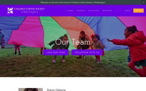 Screenshot of Team Page childrenshomesociety.org - Our Team — Children's Home Society of Washington - captured Nov. 5, 2016