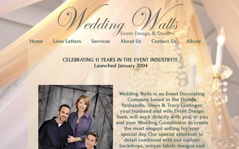 Screenshot of About Page weddingwalls.com - Wedding Walls About Us - captured Jan. 3, 2017