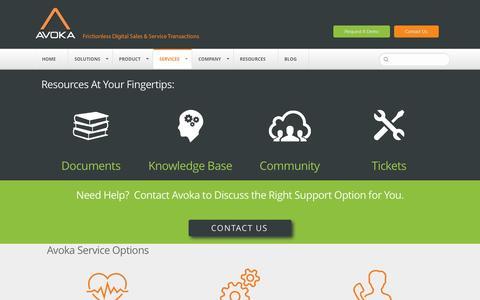 Screenshot of Support Page avoka.com - Support |Avoka - captured Dec. 27, 2015
