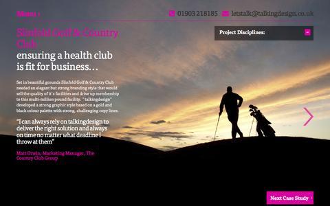 Screenshot of Case Studies Page talkingdesign.co.uk - Ňtalking designÓ Ý integrated creative solutions | Websites | Website Design | Logotypes | SEO | Print Design | Branding | Marketing | Publishing Design | Worthing | West Sussex | Brighton | Southeast - captured Jan. 10, 2016