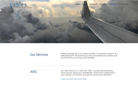 Screenshot of Services Page gableseng.com - Services – Gables Engineering - captured Sept. 26, 2018