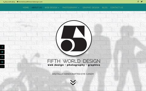 Screenshot of About Page fifthworlddesign.com - About Us | Fifth World Design - captured Aug. 3, 2015