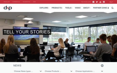 Screenshot of Press Page dnp-screens.com - News - dnp Screens - captured June 26, 2017