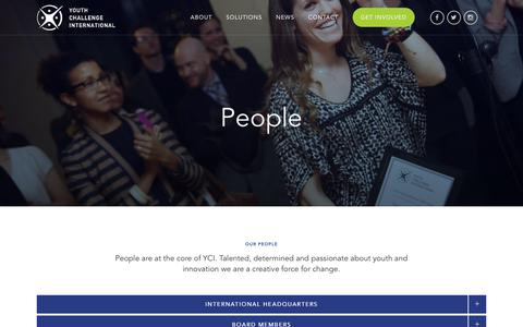 Screenshot of Team Page yci.org - People - Youth Challenge International - captured Sept. 24, 2018