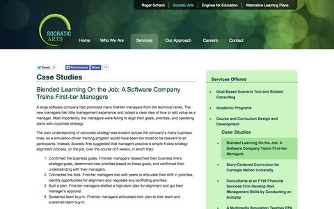 Screenshot of Case Studies Page socraticarts.com - Socratic Arts - Case Studies - captured Sept. 30, 2014